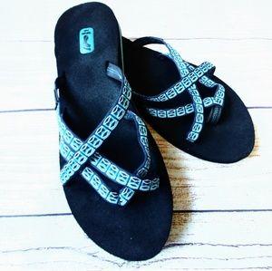 Teva slip on strappy walking sandal